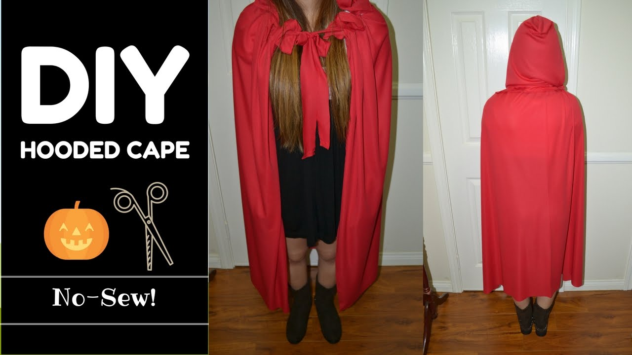 Diy hooded cape no sew measurements included last minute idea diy hooded cape no sew measurements included last minute idea youtube maxwellsz