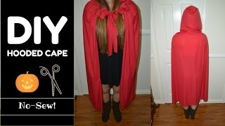 DIY ✿ HOODED CAPE (NO-SEW & MEASUREMENTS INCLUDED) LAST MINUTE IDEA