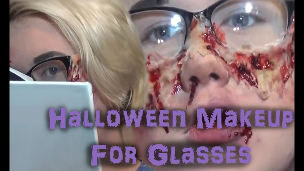 Halloween Makeup for People With Glasses - YouTube