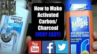 Start to finish of making Activated Carbon/Charcoal. Please use saf...