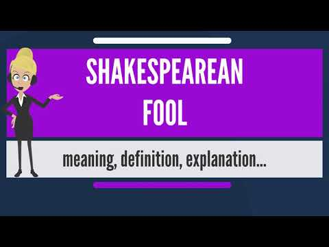 What is SHAKESPEAREAN FOOL? What does SHAKESPEAREAN FOOL mean? SHAKESPEAREAN FOOL meaning
