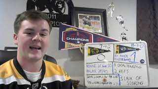 Bruins Fan Reaction - Game 13 - 3 Things - NSH 1, BOS 0