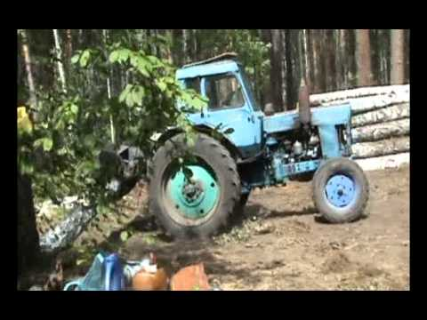 Работа МТЗ-80 с куном - YouTube