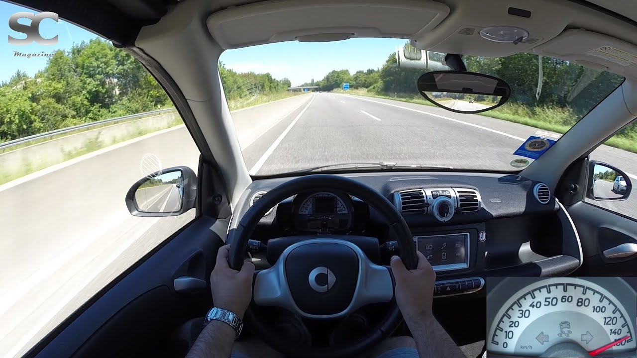 Smart Fortwo 1 0 Mhd Cabrio  2013  On German Autobahn - Pov Top Speed Drive