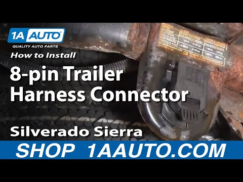 how to replace trailer hitch plug receptacle 99-04 gmc sierra 2500 - youtube  youtube