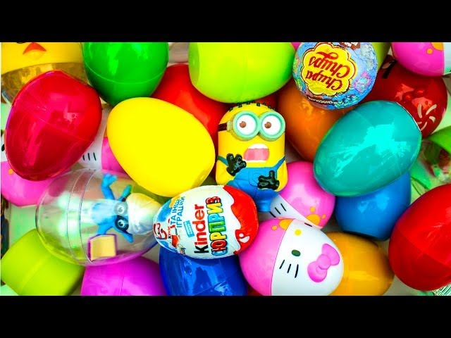 32 Surprise Eggs!!! Disney CARS MARVEL Spider Man Маша и Медведь HELLO KITTY Kinder Surprise eggs! Travel Video