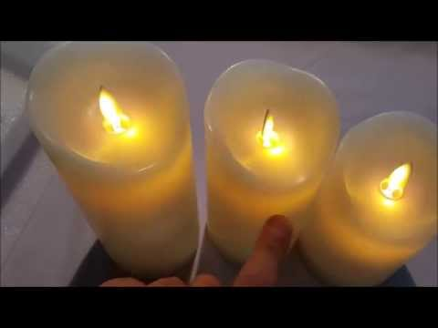 Comenzar Flickering Flamess LED Candles Set of Three Review