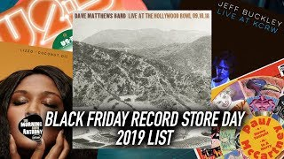 Black Friday Record Store Day 2019 List Release