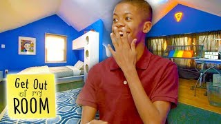 Teen Gets FUTURISTIC Modern Hangout Space | Get Out Of My Room | Universal Kids