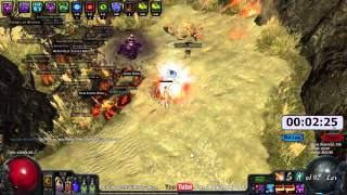 Path of Exile Act 4: Gorge Clear Speed with Fireball!  EB/MoM/ZO