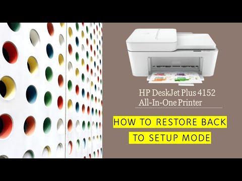 HP Deskjet Plus 4152 | 4155 : How to restore back to setup mode / restore wireless to default