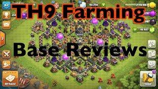 TH9 Farming + Base Reviews | Clash of Clans Livestream
