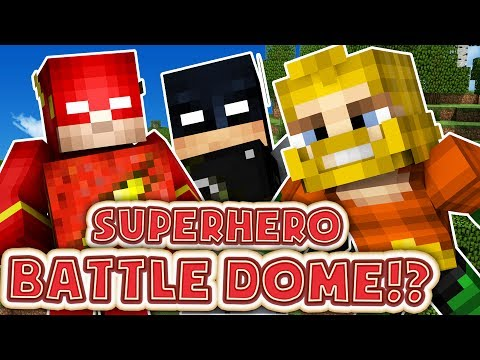 MINECRAFT SUPERHERO MODDED BATTLEDOME MINIGAME - MINECRAFT M