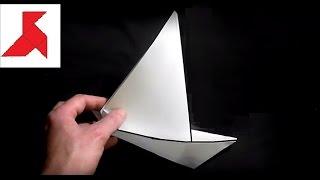 как сделать бумажный кораблик парусник