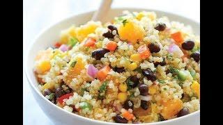Very Simple, Delicious, High-protein Quinoa Salad Recipe