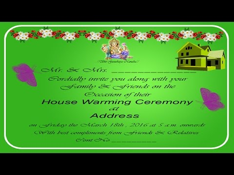 How To Design A House Warming Invitation Card In Photoshop