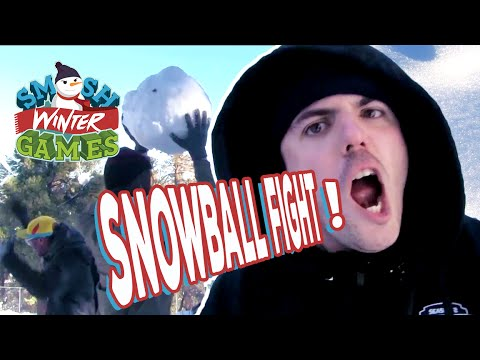 THERE WAS A SNOWBALL FIGHT (Smosh Winter Games)