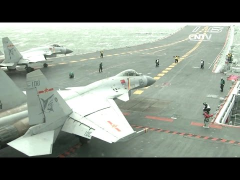 CNTV - J-15 Naval Fighters Aircraft Carrier Testing [1080p]