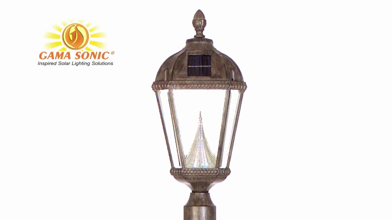 4aad45048 Royal Lamp Post - Black - Gama Sonic GS-98B-S-BLK | 1000Bulbs.com