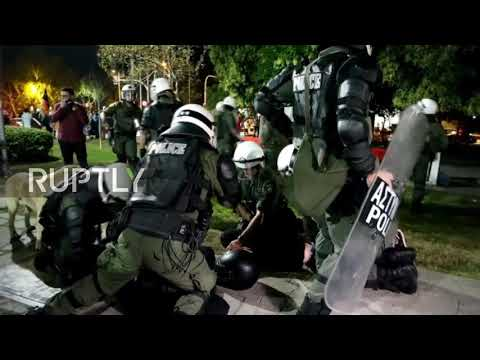 Greece: Police and ultra-Orthodox protesters clash in Thessaloniki over 'blasphemous' play