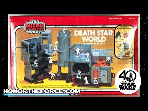 Star Wars Death Star World Micro Play Set Vintage Commercial Kenner