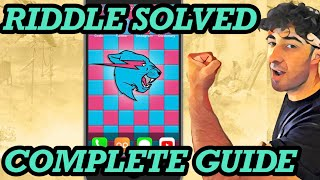 Mr Beast $100,000 Riddle SOLVED Walkthrough Complete Steps 1-26