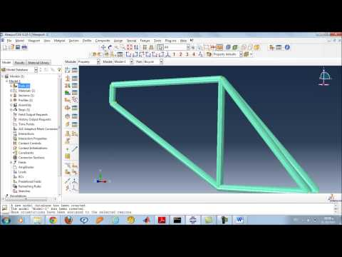 Abaqus tutorial training 1 Bicycle Frame: