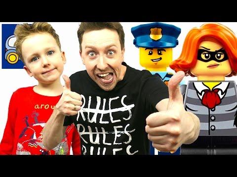 🚔 Лего Сити Полиция и Рэп про Оленя в видео про Lego City Мобильный Командный Центр 60139 Картонка