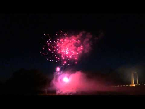 feu d'artifice cosne sur loire 14 juillet 2014