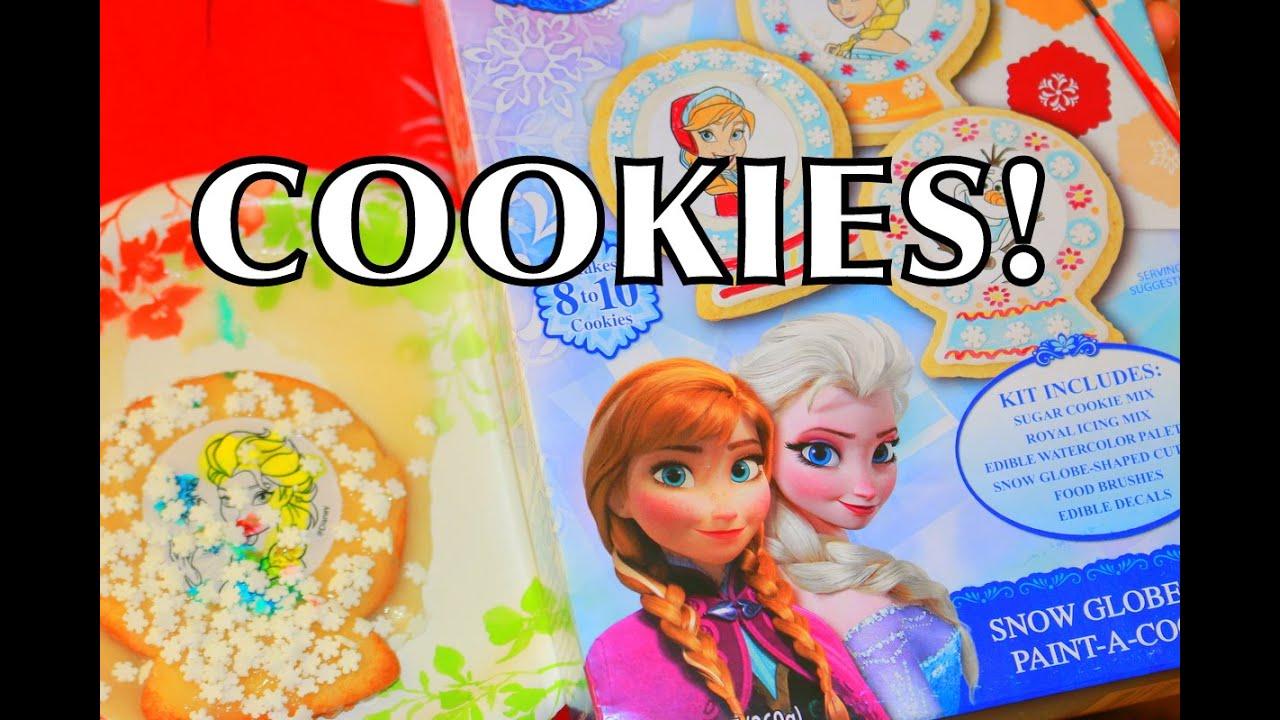 DIY Elsa Frozen Cookies How To Make Tutorial Elsa + Anna - YouTube