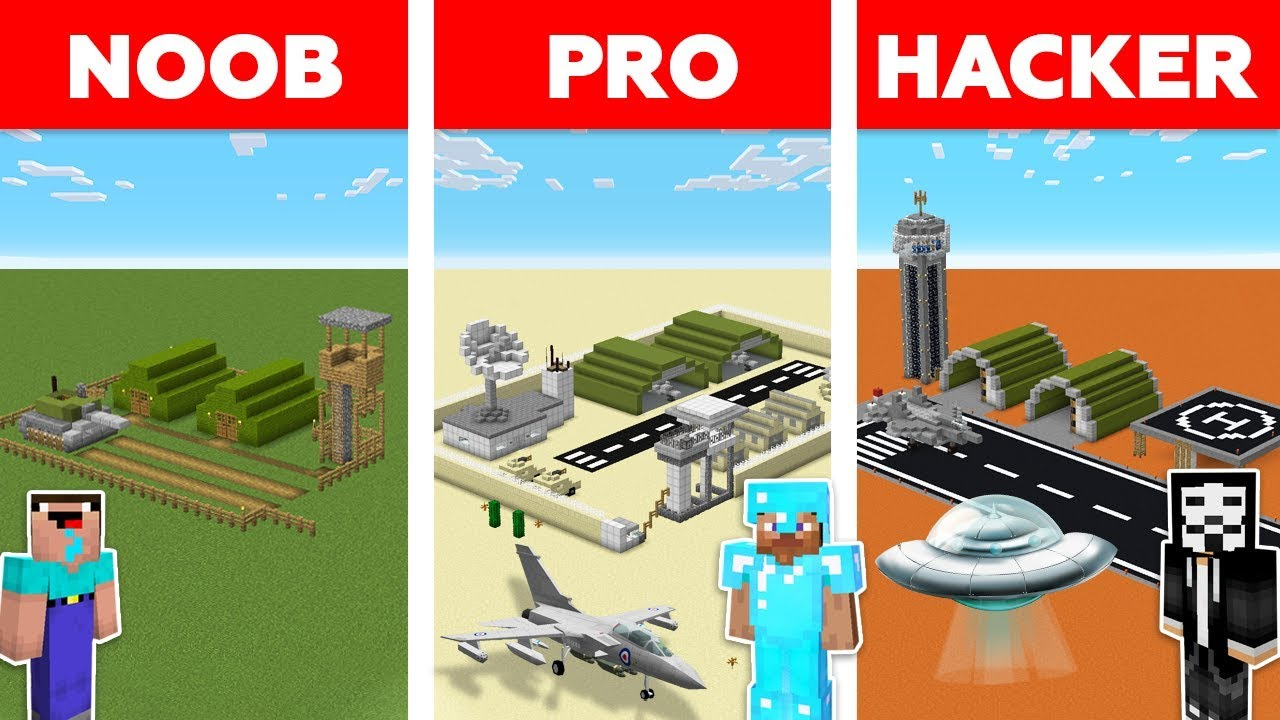 Minecraft NOOB vs PRO vs HACKER : Storm Area 51 Challenge in minecraft / Animation thumbnail