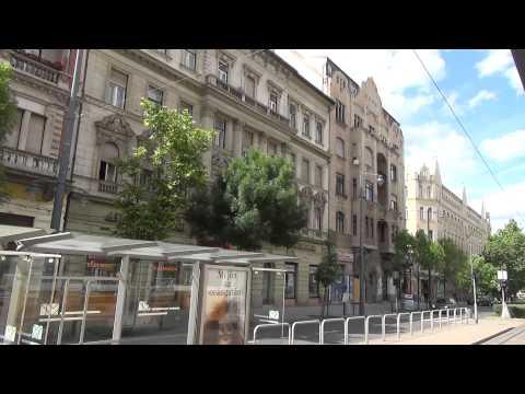 Budapest Tram 18 Ride from Savoya Park to Széll Kálmán tér