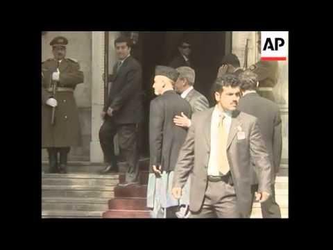 President Bush arrives at Presidential Palace on surprise visit