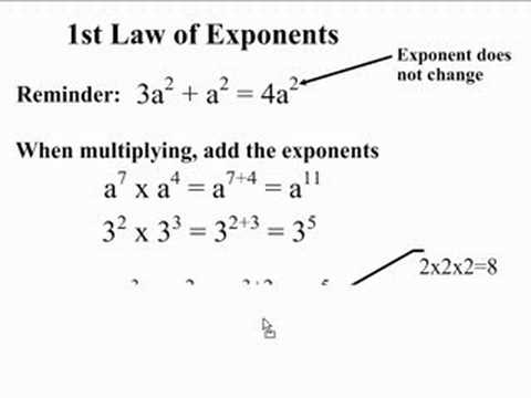 1st Law of Exponents - YouTube