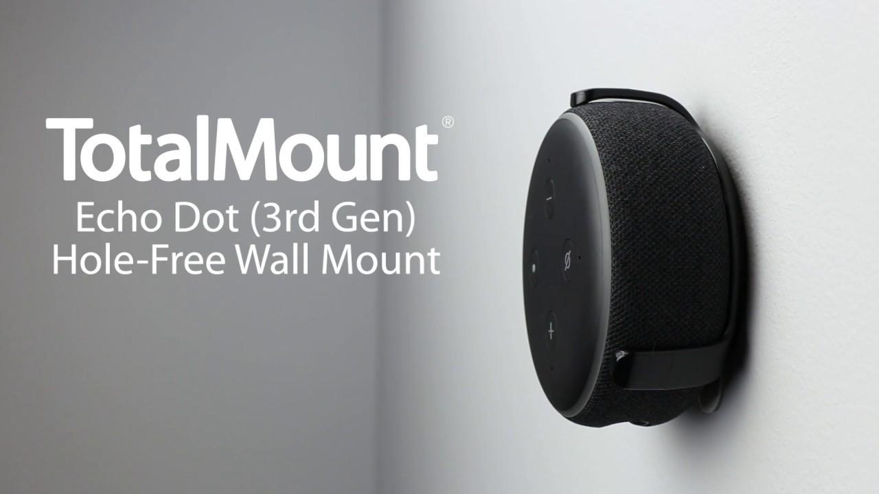 Black Echo DOT 3rd Generation wall bracket mount