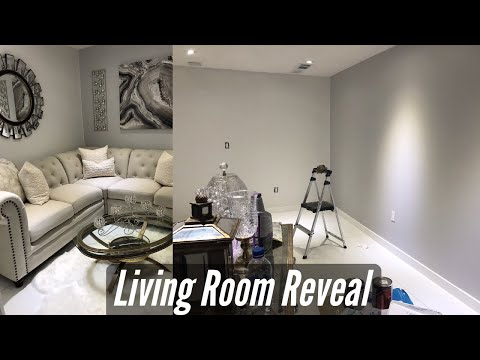 ROOM REVEAL   LIVING ROOM  REFRESH WITH THRIFT STORE FURNITURE