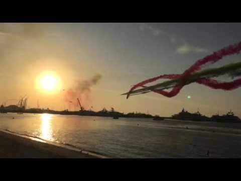 UAE National Day - Jet plane show - Rainbow twist