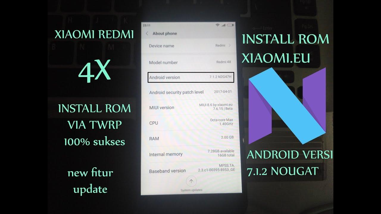 cara upgrade os android xiaomi note 4x
