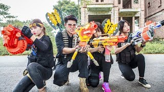 LTT Nerf War : Squad SEAL X Warriors Nerf Guns Fight Attack Criminal Group Nerf N-strike