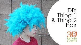 DIY Thing 1 Thing 2 Seuss Hair