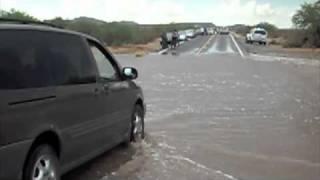 Driving through flash floods