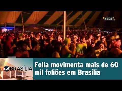 Folia movimenta mais de 60 mil foliões em Brasília