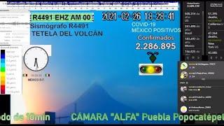 Atardecer azul en Popocatépetl -López Gatell Grave necesita oxigeno - Quitan Candidatura a Felix