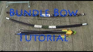 How To Make A Bundle Bow From Fibreglass Tent Poles