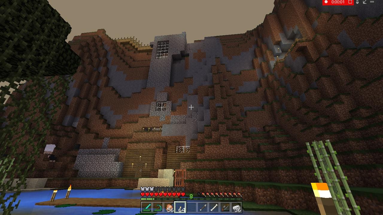 Huge minecraft house inside mountain - YouTube