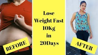 How to Lose Weight Fast 10 Kg In 20 Days   Effective Way to Lose Weight   Pooja Pundir