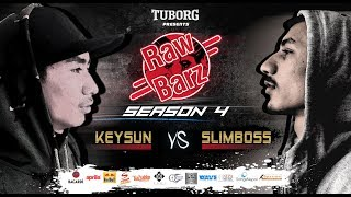 SLIMBOSS VS KEYSUN (Official Battle) | Tuborg Presents RawBarz Rap Battle S4E4 2018 Video
