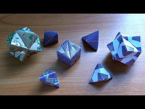 Простые оригами поделки для начинающих. Как сделать модуль сонобе. Сонобе ч.1