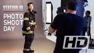 Station 19 Season 3 Photo Shoot Day Behind The Scenes (Boris Kodjoe, Jaina Lee Ortiz)