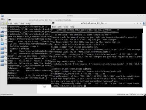 Half success, half fail experiment, cross compile kernel module for Raspberry Pi on Ubuntu